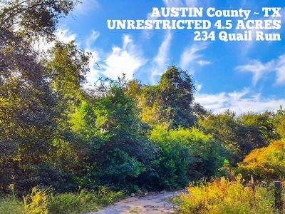 Bellville Residential Lots & Land For Sale: 234 Quail Run