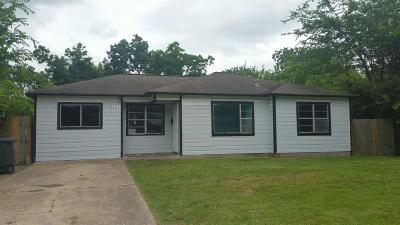 Houston TX Single Family Home For Sale: $109,000