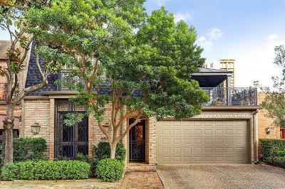 Houston Condo/Townhouse For Sale: 4810 Post Oak Timber Drive