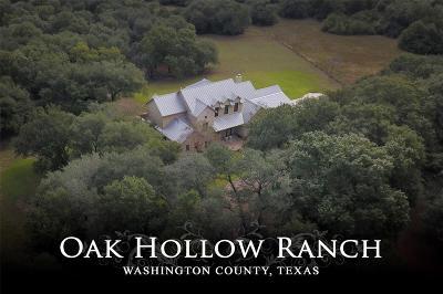 Washington County Farm & Ranch For Sale: 11157 Fm 389 Road