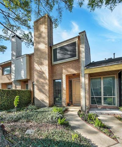 Houston Condo/Townhouse For Sale: 12625 Memorial Drive #48