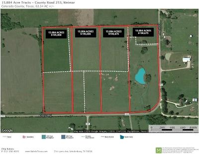 Weimar Farm & Ranch For Sale: 002 Cr 253