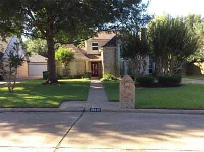 Katy Single Family Home For Sale: 20519 Park Pine Drive