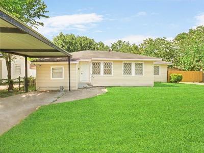 Houston TX Single Family Home For Sale: $116,000