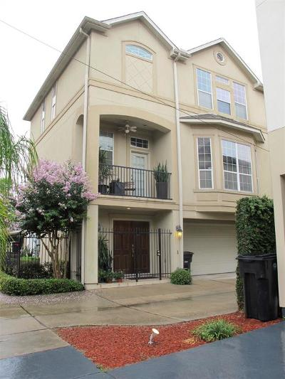 Houston Condo/Townhouse For Sale: 207 Knox Street