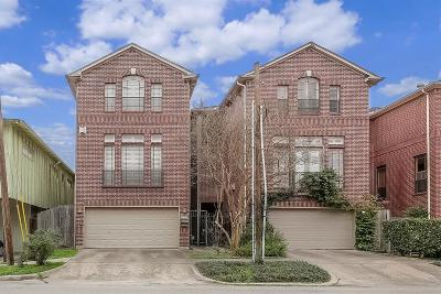 Houston Condo/Townhouse For Sale: 4111 McDuffie Street