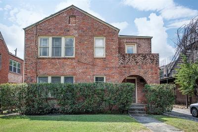 Houston Multi Family Home For Sale: 1629 Castle Court