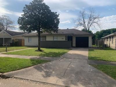 Houston TX Single Family Home For Sale: $140,000