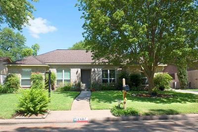 Houston Single Family Home For Sale: 2407 Elmgate Drive