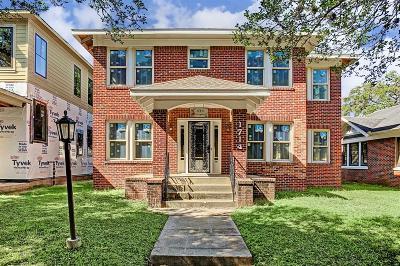 Houston Single Family Home For Sale: 1714 Cherryhurst Street