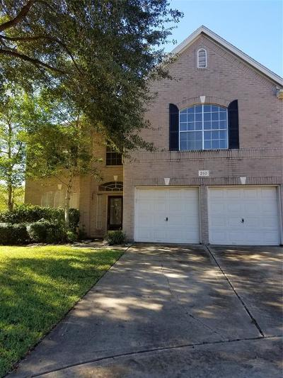 Sugar Land Single Family Home For Sale: 210 Windrift Court