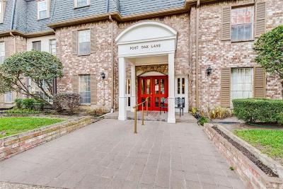 Houston Condo/Townhouse For Sale: 353 N Post Oak Lane #829