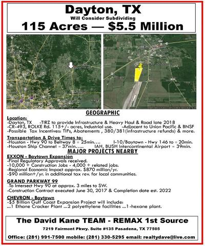 Dayton Residential Lots & Land For Sale: County Road 493 Rolke Road
