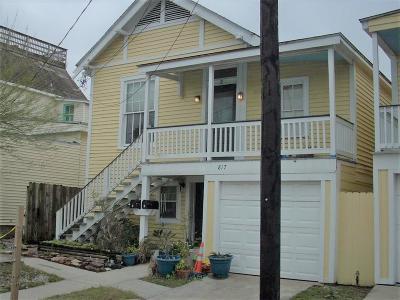 Galveston Rental For Rent: 817 10th Street Upstairs