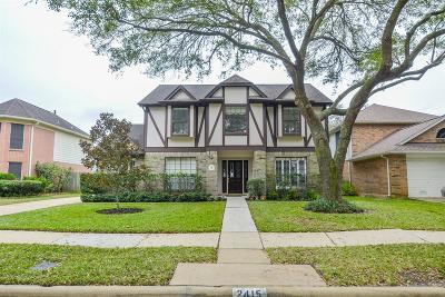 Sugar Land Single Family Home For Sale: 2415 Parkwood Lane