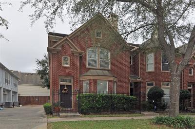 Houston Condo/Townhouse For Sale: 90 McGowen Street
