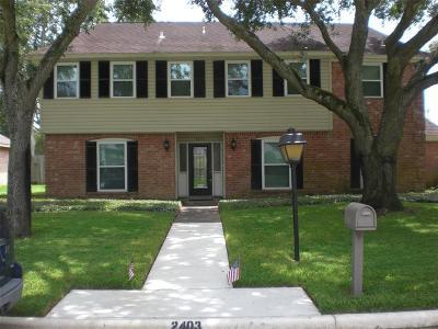 Missouri City Single Family Home For Sale: 2403 Ashmont Drive