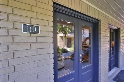 Houston Condo/Townhouse For Sale: 1410 Hydepark Boulevard #110
