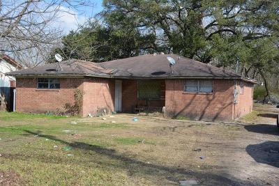 Houston TX Single Family Home For Sale: $89,000