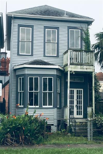 Galveston Single Family Home For Sale: 1607 Market Street