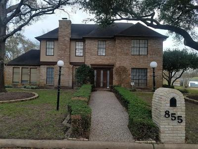 Houston Single Family Home For Sale: 855 Silvergate Drive