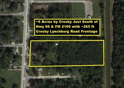 Crosby Residential Lots & Land For Sale: 12802 Crosby Lynchburg Road