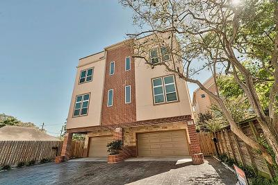 Houston Condo/Townhouse For Sale: 3505 Mosley Court Place #1