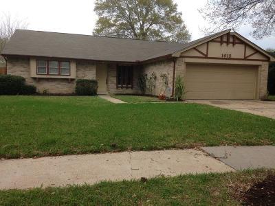 Missouri City Single Family Home For Sale: 1615 Castle Creek Drive