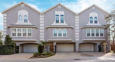 Houston Condo/Townhouse For Sale: 884 Detering Street