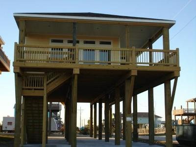 Crystal Beach Single Family Home For Sale: 1237 Gulf Road