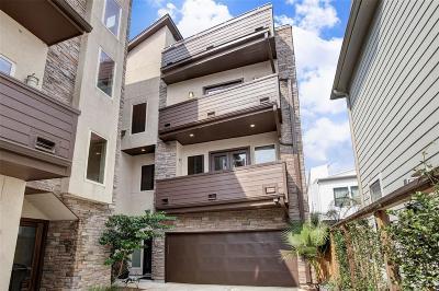 Houston Single Family Home For Sale: 1515 Birdsall Street #C