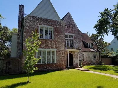 Houston Single Family Home For Sale: 2513 Brentwood Drive