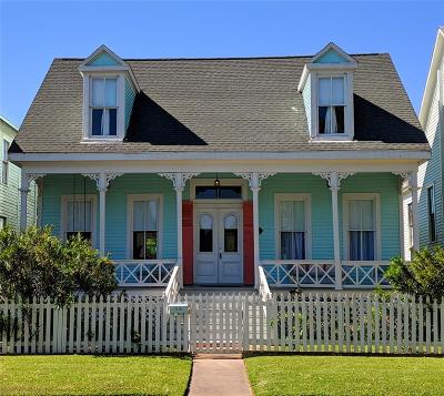 Galveston TX Single Family Home For Sale: $320,000