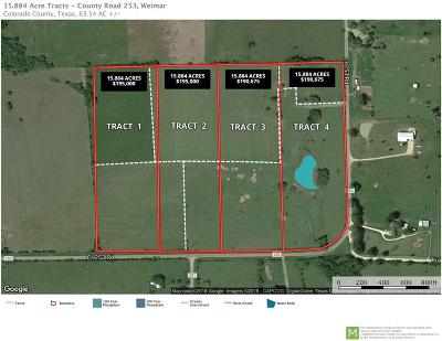 Weimar Residential Lots & Land For Sale: 002 Cr 253