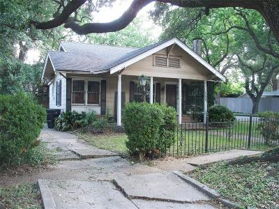 Houston Single Family Home For Sale: 1309 Marshall Street