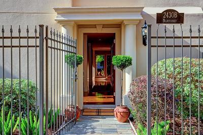 Houston Condo/Townhouse For Sale: 2430 Nantucket Drive #B