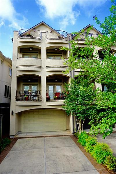 Houston Condo/Townhouse For Sale: 6635 Wanita Place #B