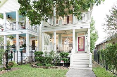 Houston Single Family Home For Sale: 504 W 27th Street