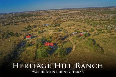 Washington County Farm & Ranch For Sale: 2755 Caney Creek Road