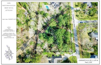Conroe Residential Lots & Land For Sale: W Carriage Run Lot 46