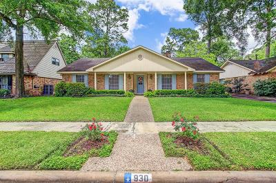 Houston Single Family Home For Sale: 930 Chantilly Lane