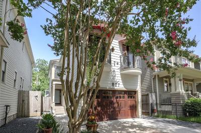 Houston Single Family Home For Sale: 837 Ashland Street