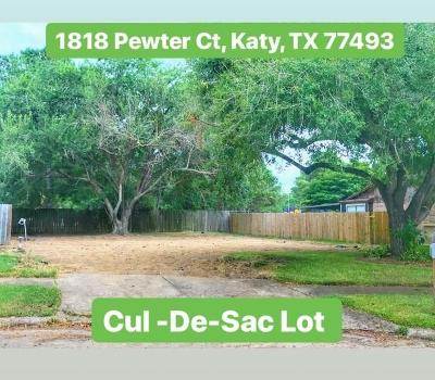 Katy Residential Lots & Land For Sale: 1818 Pewter Court