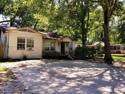 Houston TX Single Family Home For Sale: $43,200