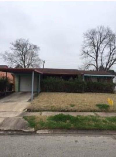 Houston TX Single Family Home For Sale: $65,200