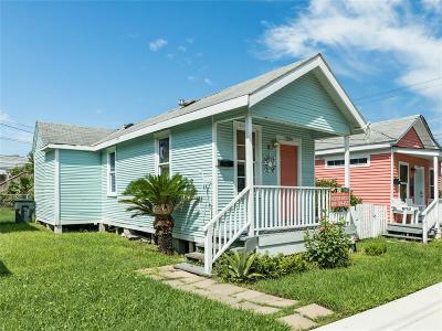 Galveston TX Single Family Home For Sale: $115,000