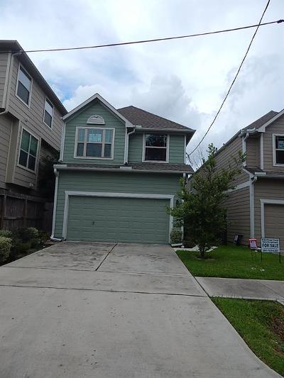Houston Single Family Home For Sale: 1315 Bingham Street
