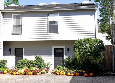 Houston Condo/Townhouse For Sale: 4225 Purdue Street #C
