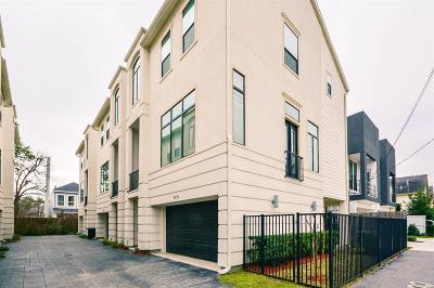 Houston Condo/Townhouse For Sale: 4119 Eigel Street