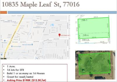 Residential Lots & Land For Sale: 10835 Maple Leaf Street